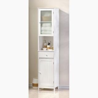 Kentucky White Wood Sleek Cabinet