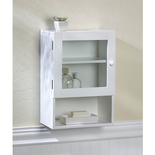 Hayes Lacquer/ White Single Door Wall Cabinet