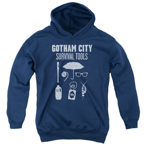 Gotham/Survival Tools Youth Navy Pullover Hoodie