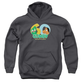 Gumby/60th Youth Charcoal Grey Pullover Hoodie