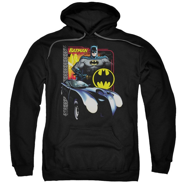 Batman/Bat Racing Adult Black Pullover Hoodie