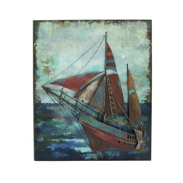 Marine Themed Wood Metal Wall Decor 18653636
