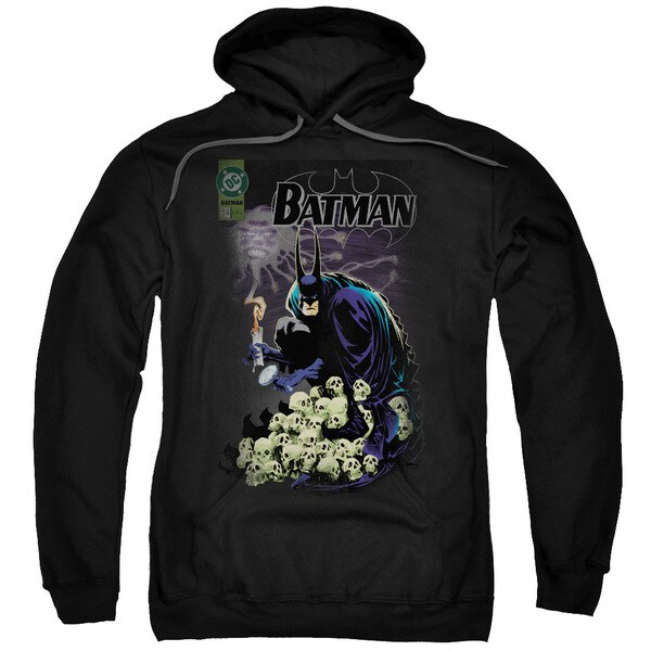 Batman/Cover #516 Black Cotton Polyester Adult Pull-over Hoodie