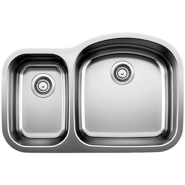 Blanco Wave Stainless Steel Reverse Bowl Kitchen Sink
