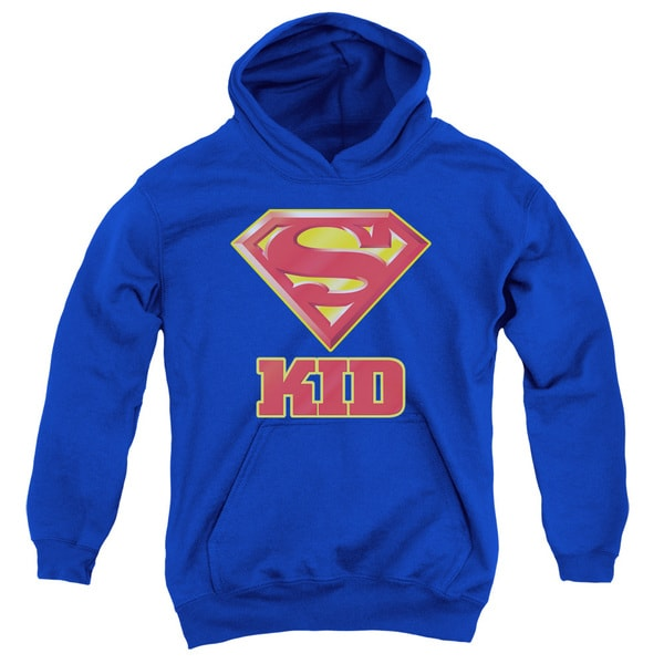 Superman/Super Kid Youth Royal Pullover Hoodie