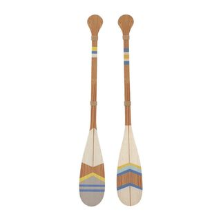 Outstanding Wood Oar Wall Decor 2 Assorted
