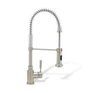 Blanco Kitchen Faucets Meridian Semi-pro Satin Nickel Brass Faucet