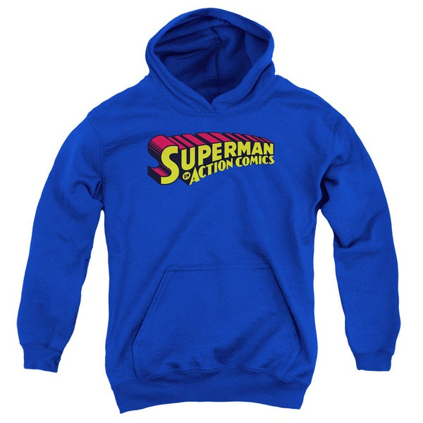 Youth Superman Royal Blue Pullover Hoodie