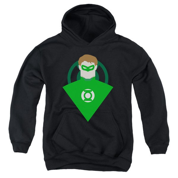 DC Green Lantern Youth Black Cotton/Polyester Pullover Hoodie