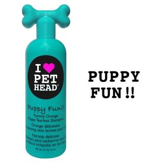 Pet Head Puppy Fun Tearless Dog Shampoo Yummy Orange 16oz