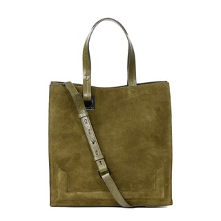 Halston Heritage Pat Leather Large Tote Bag