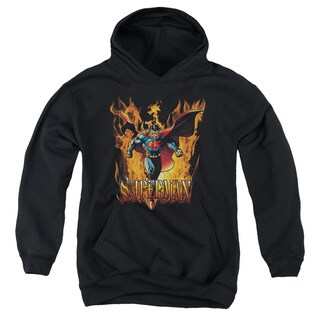 Youth Superman/Through The Fire Black Pullover Hoodie