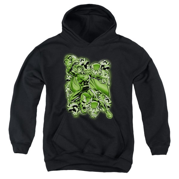 Superman Youth Metallo Mayhem Black Cotton/Polyester Large Pullover Hoodie
