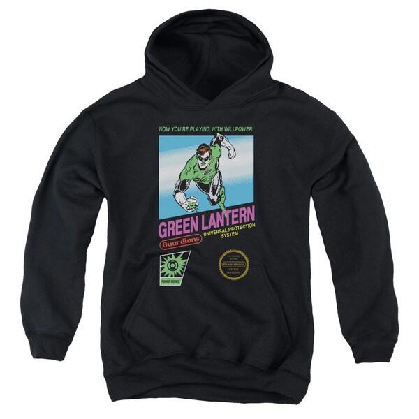 Green Lantern/Box Art Youth Black Pull-over Hoodie