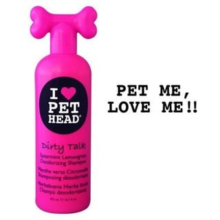 Pet Head Dirty Talk Deodorizing Dog Shampoo Spearmint Lemongrass 16oz