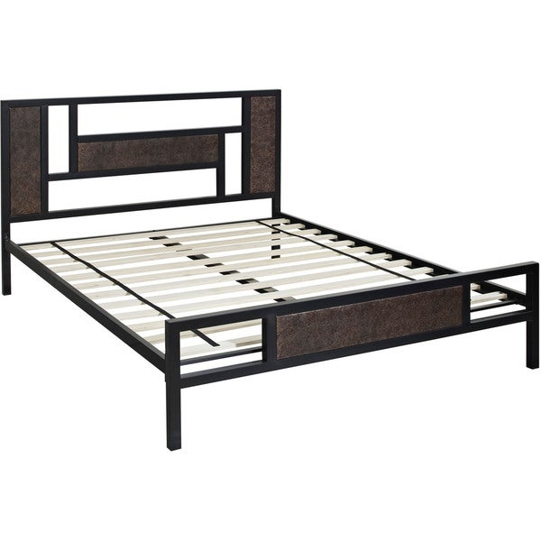 Hanover Hyde Park Black Metal Queen Platform Bed