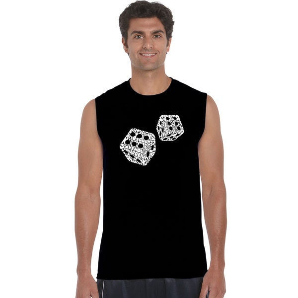 Men's Different Rolls Thrown in the Game of Craps Sleeveless T-shirt