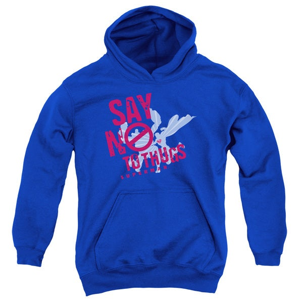 Royal Blue Superman/Say No To Thugs Youth Pullover Hoodie