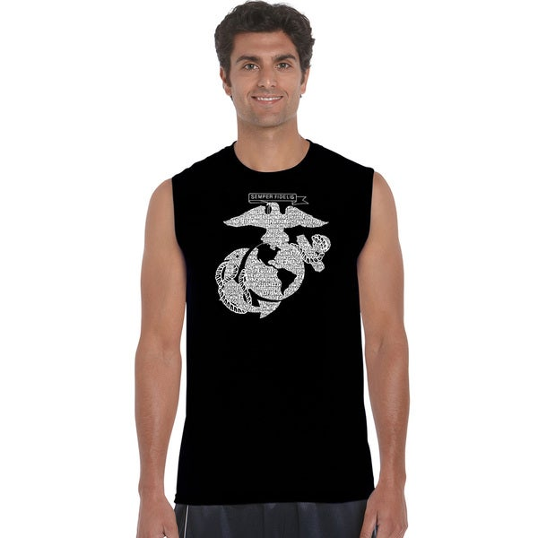Men's Sleeveless Lyrics To The Marines Hymn T-shirt