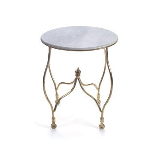 Hip Vintage Fallon Marble Occasional Accent Table
