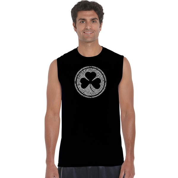 Men's 'When Irish Eyes Are Smiling' Sleeveless T-shirt