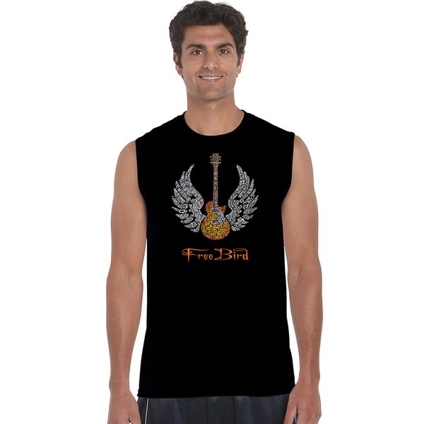 Men's Lyrics To Freebird Cotton Sleeveless T-shirt