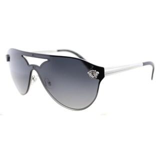 Versace VE 2161 10008G Black Metal Aviator Grey Gradient Lens Sunglasses