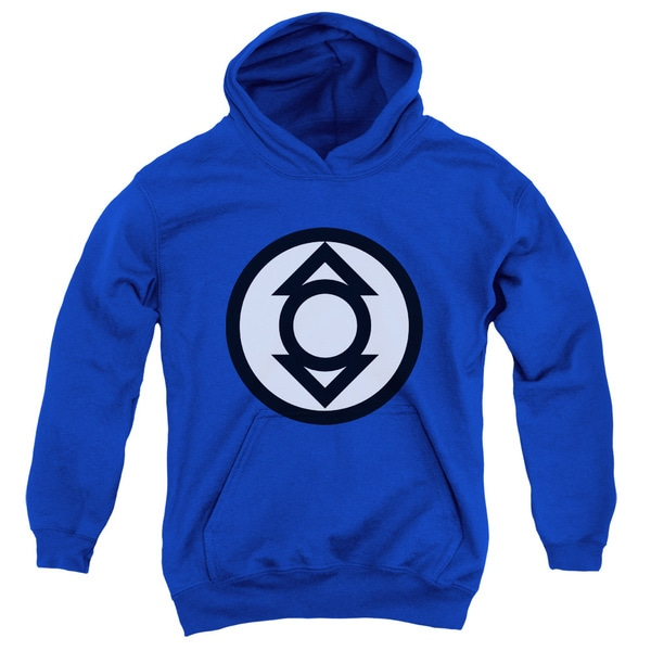 Green Lantern/Indigo Tribe Youth Pullover Hoodie in Royal Blue