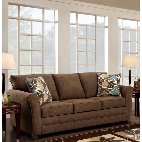 Sofa Trendz Brooklyn Fudge-brown Microfiber Sofa