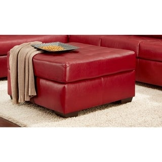Sofa Trendz Becky Red Faux Leather/Leather Ottoman