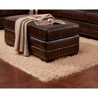 Sofa Trendz Bruce Brown Faux Leather Ottoman