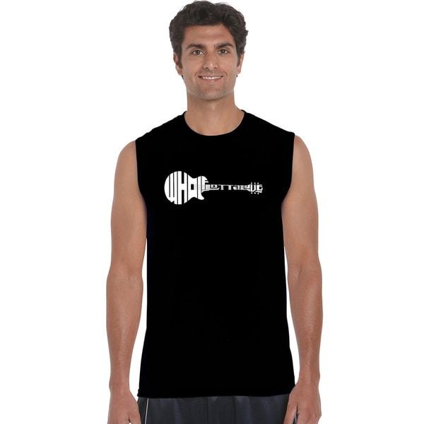 Men's Black Cotton Sleeveless Whole Lotta Love T-shirt