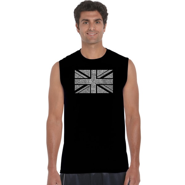 Men's Cotton Sleeveless Union Jack T-shirt