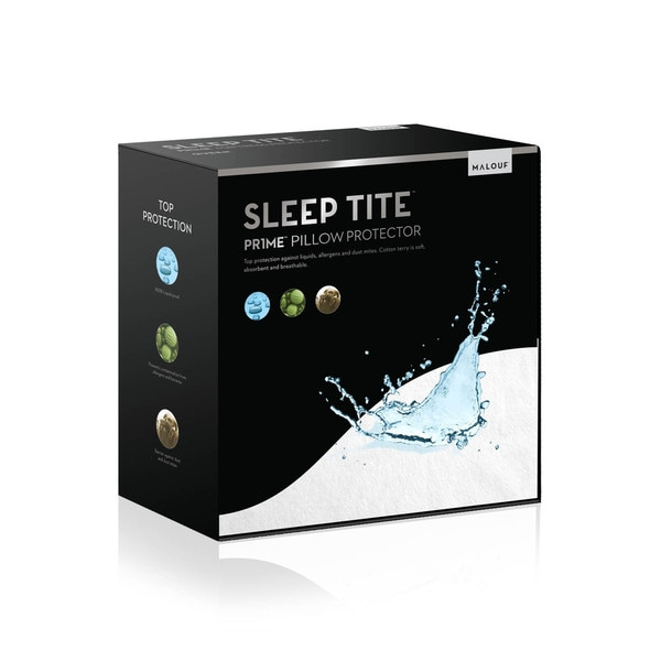 SLEEP TITE PRIME Hypoallergenic 100-percent Waterproof Pillow Protector (Set of 2)