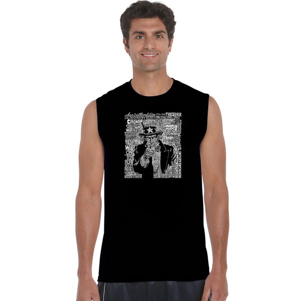 Men's Cotton Uncle Sam Sleeveless T-shirt