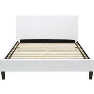 Hanover Downtown White Leather Full Platform Bed