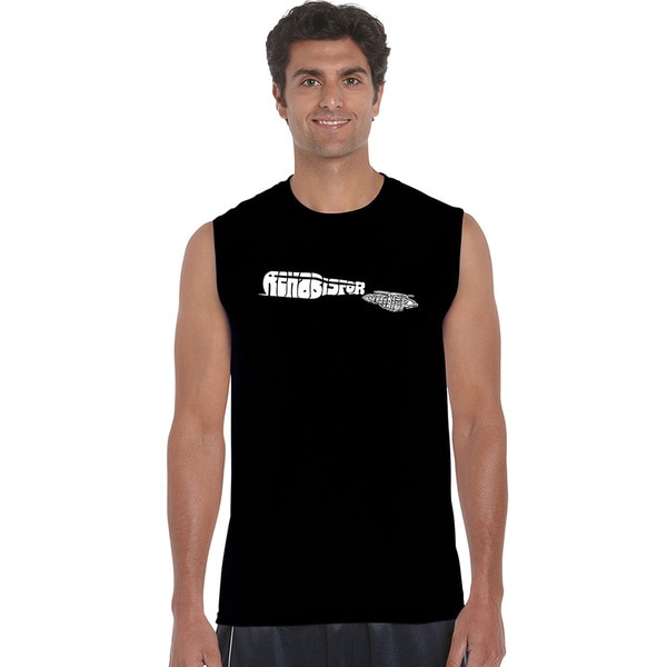Men's 'Rehab is for Quitters' Cotton Sleeveless T-shirt