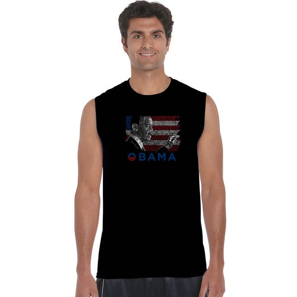 Men's Barack Obama All Lyrics to America the Beautiful Sleeveless T-shirt