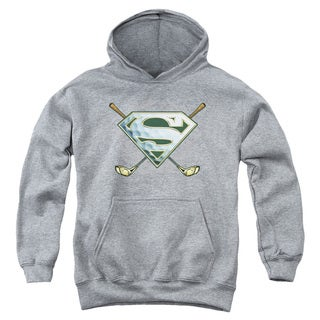 Superman Youth 'Fore!' Heather Cotton/Polyester Pullover Hoodie
