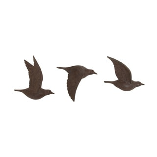 In Flight Polystone Bird Wall Decorative (Set Of 3)