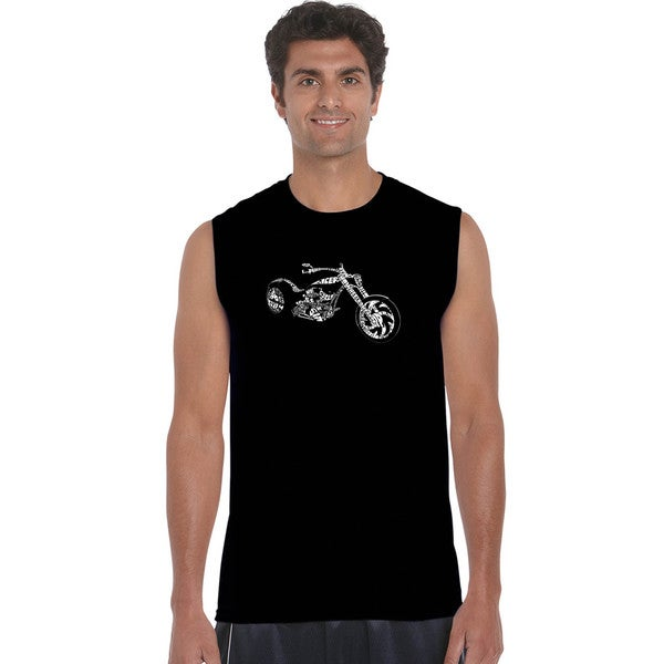 Men's Sleeveless Motorcycle T-shirt 18661346
