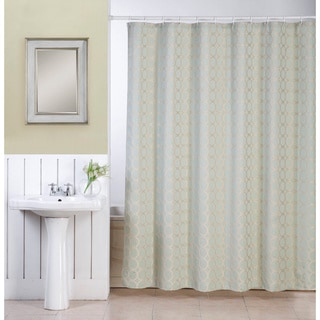 Ellen Tracy Orbits Polyester Fabric Shower Curtain