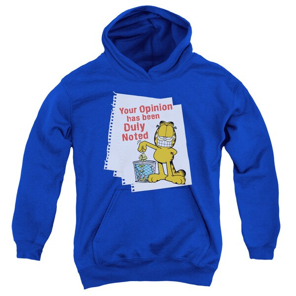 Youth Royal Blue Garfield/Duly Noted Pullover Hoodie