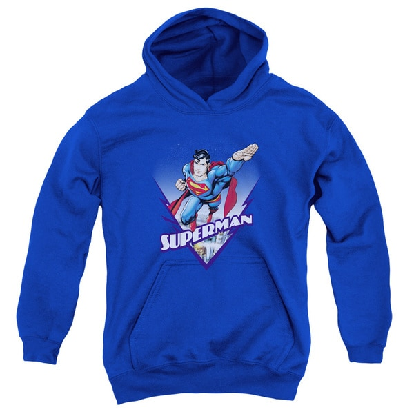Superman/Looks Like A Job For Youth Pull-Over Hoodie in Royal