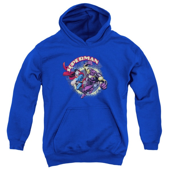 Superman/Superman vs Mongol Youth Pullover Hoodie in Royal Blue