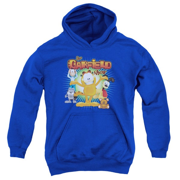 Garfield/The Garfield Show Youth Pull-Over Hoodie in Royal