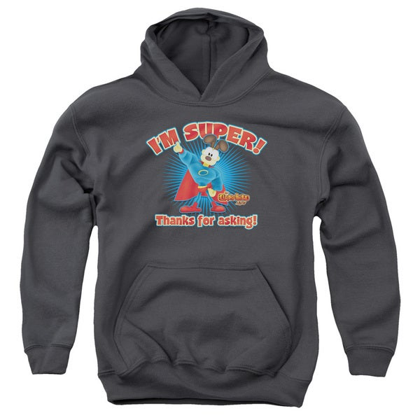 Garfield/Super Youth Charcoal Grey Pullover Hoodie