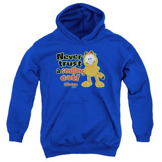 Garfield/Smiling Youth Royal Blue Pullover Hoodie