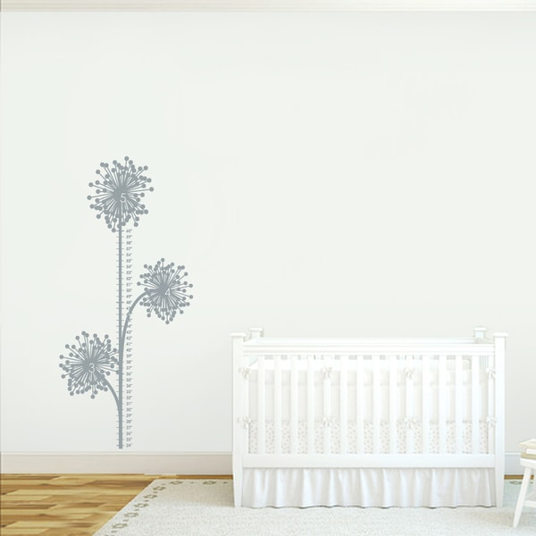 Dandelion Growth Chart Wall Decal