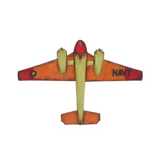 Metal Decorative Antique Fighter Navy Airplane